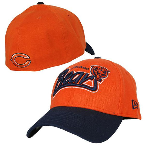 Mens New Era Chicago Bears Two Tone Tail Swoop Flex Fit Hat