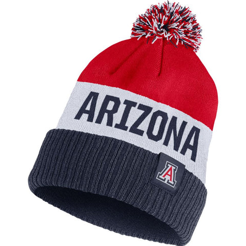 Arizona Wildcats Nike Team Name Cuffed Knit Hat with Pom