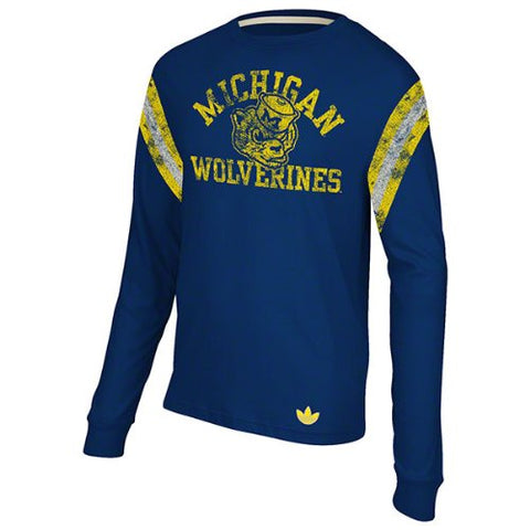 adidas NCAA Michigan Wolverines Men's Originals Long Sleeve Applique Crew