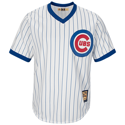 Men's Chicago Cubs Home White Cooperstown Collection Cool Base Replica Jersey