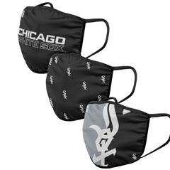 Adult Chicago White Sox FOCO Cloth Face Covering 3-Pack