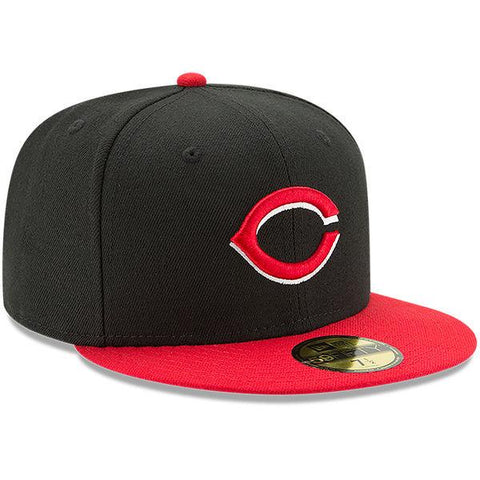 Mens New Era Cincinnati Reds Black/Red Alternate Authentic Collection On-Field 59FIFTY Fitted Hat