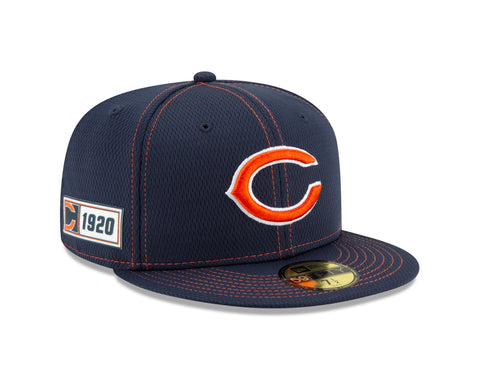 "Chicago Bears Established 2019 On Field Sideline ""C"" Logo Road 59FIFTY Fitted Hat"