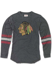 Chicago Blackhawks Black Thompson Long Sleeve Fashion T Shirt