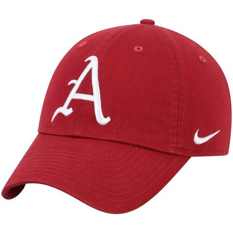 Arkansas Razorbacks Nike Heritage 86 Team Logo Performance Adjustable Hat - Crimson