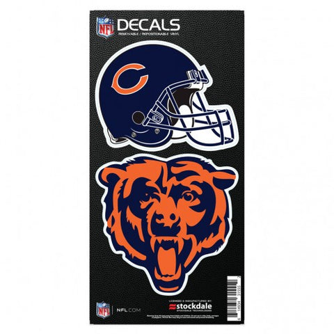 Chicago Bears 6X12 Dual Logo All Surface Decal By Wincraft