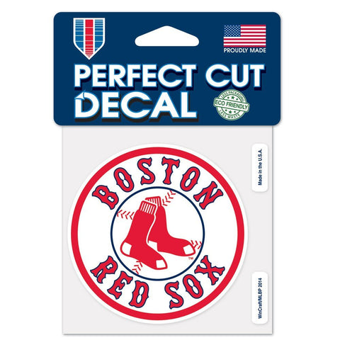 Boston Red Sox 4X4 Perfect Cut Decal