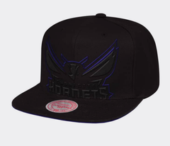 Charlotte Hornets New Logo Mitchell & Ness NBA Cropped XL Logo Snapback Cap
