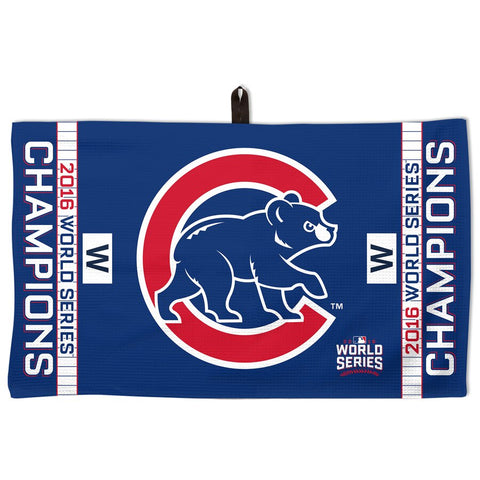 "Chicago Cubs WinCraft 2016 World Series Champions 14"" x 24"" GOLF Waffle Towel with Strap"