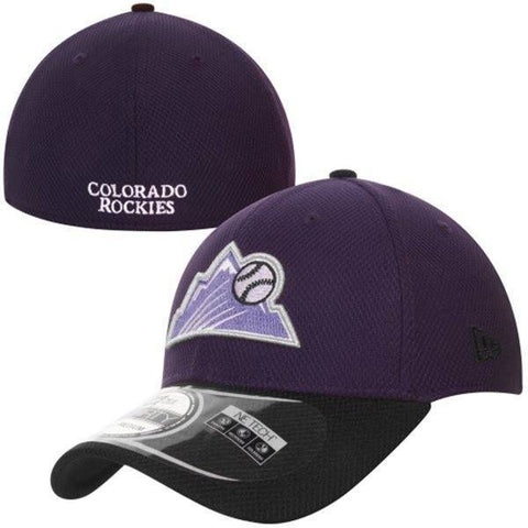 Men's Colorado Rockies New Era Purple/Black Diamond Era 39THIRTY Flex Hat
