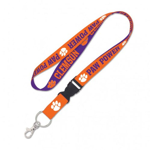 Clemson Tigers Double Sided Lanyard With Detachable Buckle By Wincraft