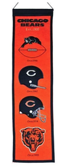 Chicago Bears Fan Favorite Heritage Banner By Winning Streak