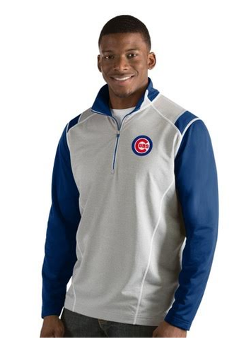 Men's Chicago Cubs Automatic 1/4 Zip Track Jacket By Antigua