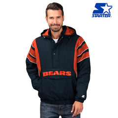 Men's Chicago Bears The Impact Half-Zip Hooded Pullover Jacket