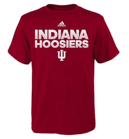 Indiana Hoosiers Men's Hustle Sideline Ultimate Tee By Adidas