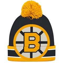 Boston Bruins Vintage Cuffed Pom Knit