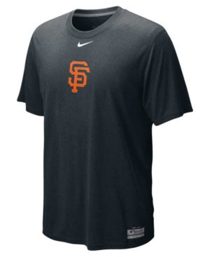 Nike San Francisco Giants Black Team Issue Legend Logo Performance T-shirt