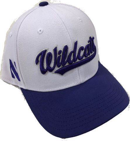 Northwestern Wildcats Top of the World Infield Flex Hat - White/Purple
