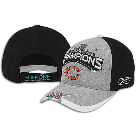 Chicago Bears 2006 NFC Conference Champions Locker Room Super Bowl XLI Reebok Adjustable Hat