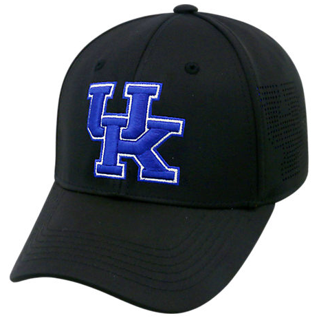 "Kentucky Wildcats Black  NCAA TOW ""Rails"" Stretch Fit Performance Mesh Hat"