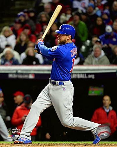 "Ben Zobrist Chicago Cubs 2016 World Series Action Photo (Size: 8"" x 10"")"