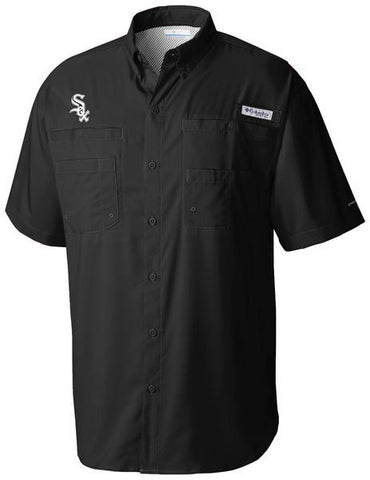 Men's Chicago White Sox Black Tamiami Button Down Shirt By Columbia