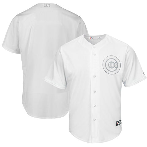 Men's Chicago Chicago Cubs Majestic White/Silver MLB19 Players Weekend Replica Blank Jersey