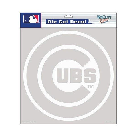"WinCraft Chicago Cubs Clear 8""x8"" Die Cut Decal"
