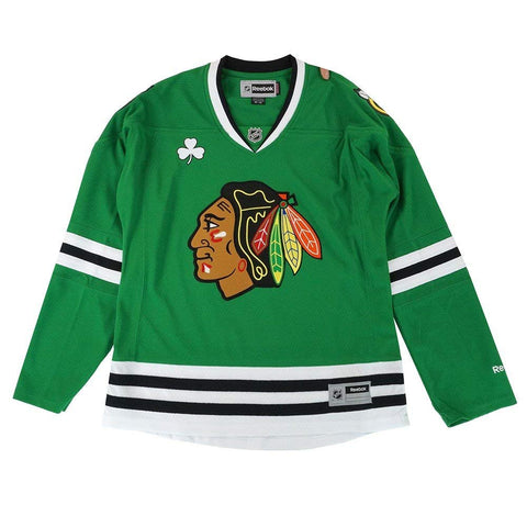 Womens Chicago Blackhawks St. Patricks Day Blank Replica Jersey
