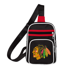 Chicago Blackhawks Black Mini Cross Sling Bag, Little Earth