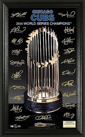 Chicago Cubs 2016 World Series Champions Signature Trophy - Pro Jersey Sports