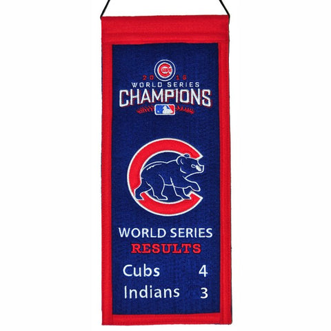 Chicago Cubs World Series Results Mini Banner