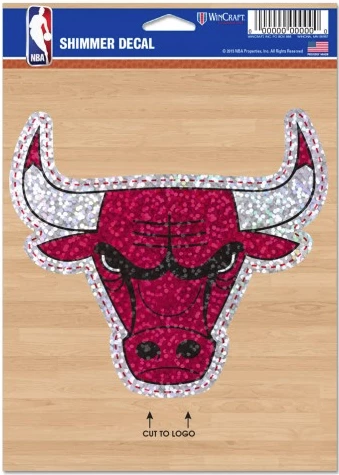 NBA Chicago Bulls 5X7 Shimmer Decal By Wincraft