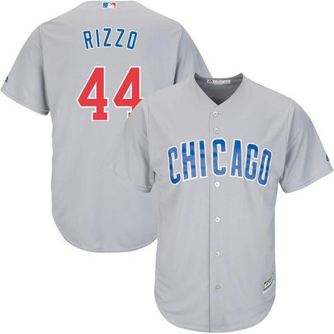 Men's Chicago Cubs Anthony Rizzo Gray Official Cool Base Player Jersey