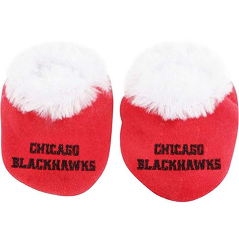 Infant Chicago Blackhawks Baby Bootie Slippers