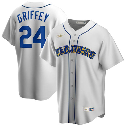 Men's Seattle Mariners Ken Griffey Jr. Nike White Home Cooperstown Collection Player Jersey