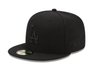 Los Angeles Dodgers Black On Black 59Fifty Fitted