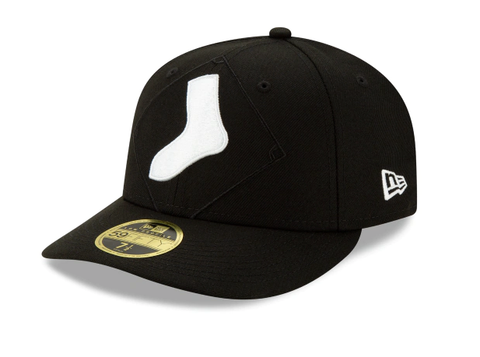 Chicago White Sox Logo Elements Low Profile Black New Era 59FIFTY Low Profile Fitted Hat