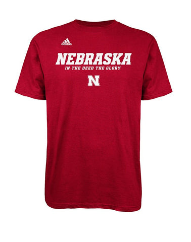 adidas Nebraska Cornhuskers In The Deed The Glory T-Shirt - Red