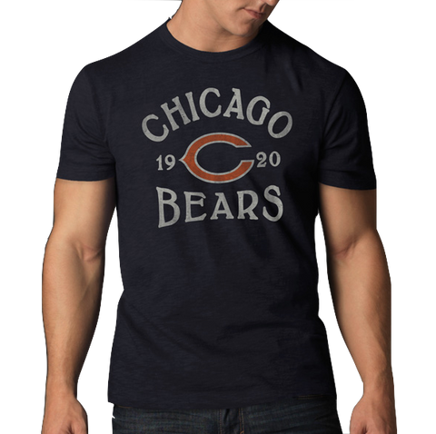 Men's Chicago Bears Fall Navy Scrum Tee By '47 Brand