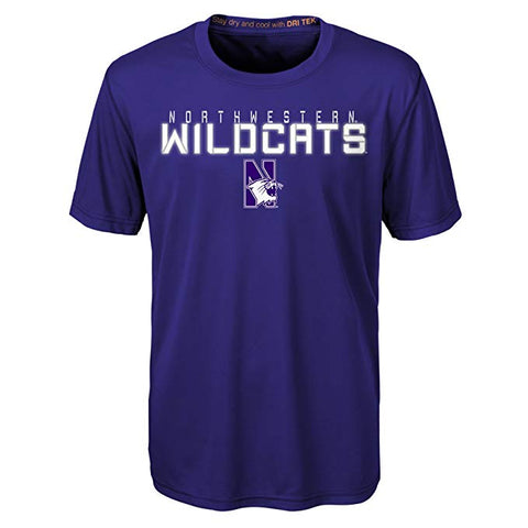Youth Northwestern Wildcats Purple Dri-Tek Performance Tee