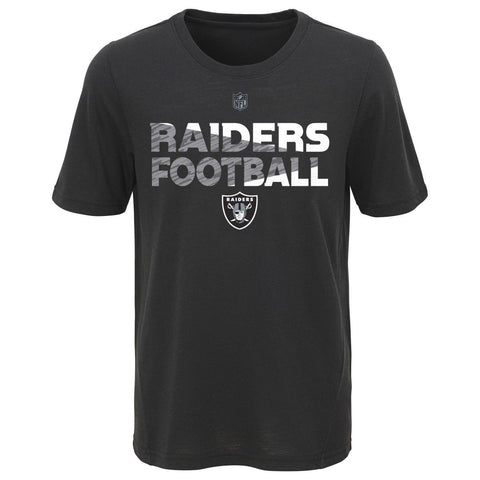 Las Vegas Raiders Youth NFL Flux Dual Blend Short Sleeve T-Shirt