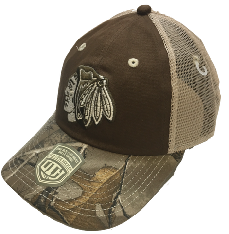 Chicago Blackhawks Ash Camouflage Adjustable Hat By Old Time Hockey