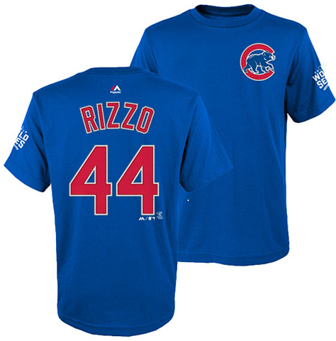 MLB Chicago Cubs Youth Anthony Rizzo 2016 World Series Name and Number T-Shirt