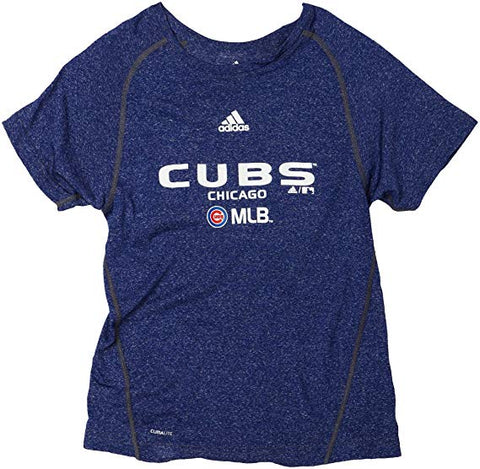 MLB adidas Chicago Cubs Youth Heather Blue Climalite T-Shirt