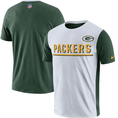 Men's NFL Green Bay Packers Nike White Champ Drive 2.0 Performance T-Shirt