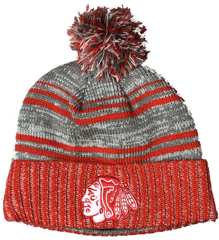 Chicago Blackhawks Merlin Knit Hat By Old Time Hockey
