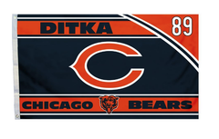 Chicago Bears NFL DITKA 3' x 5' Deluxe House Flag