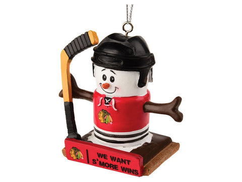 Chicago Blackhawks Smores Christmas Tree Ornament - We Want Smore Wins - Thematic