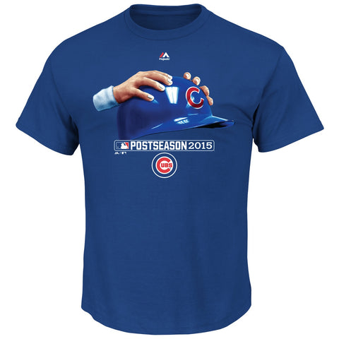 Men's Chicago Cubs Hands on Helmet T-Shirt